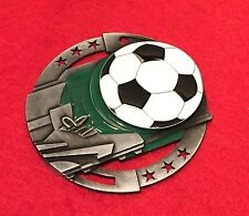 SOCCER CHRISTMAS ORNAMENT SILVER PERSONALIZED AND SHIPPING FREE