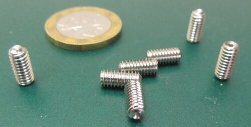 """Cup Point 200 Pieces 18-8 Stainless Steel Set Screws 8-32 x 3//8/"""" Length"""