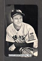 1982 BB CARD NEWS Lou Gehrig YANKEES UNSIGNED 3-1/2 x 5-1/2  PHOTO RATE CARD #24