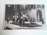 RPPC The Laying-In-State of His Majesty The Late King George V Westminster Hall