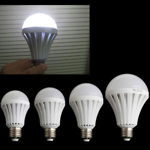 E27 5W 7W 9W 12W Smart LED Emergency Light Bulb Intelligent Lamp Rechargeable