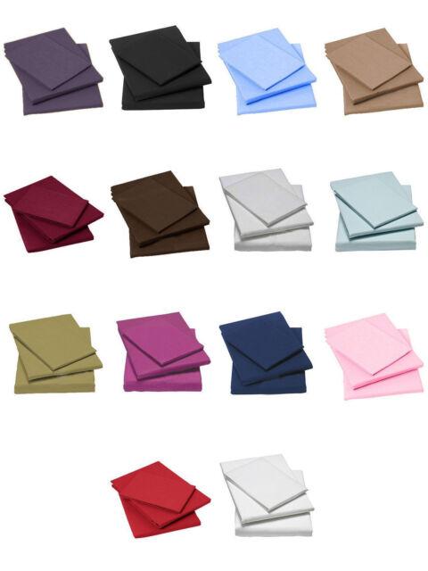 100% coton égyptien 400 fils de percale équipée draps toutes les tailles uk