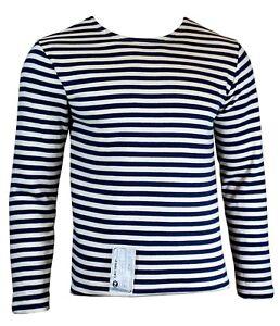 Genuine Russian Navy Telnyashka 100/% Cotton Long Sleeve Striped T-Shirt New