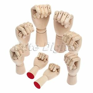 wooden right left hand model sketching drawing jointed movable