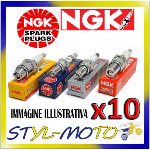 KIT 10 x CANDELE D/'ACCENSIONE NGK SPARK PLUG BR8HS STOCK NUMBER 4322