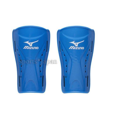 Mizuno JAPAN Football Soccer Shin Guards Guard L:17cm Protecter P3JYG701 Blue