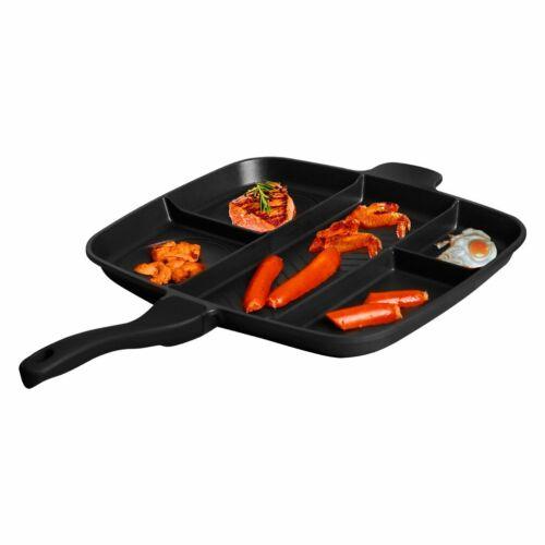 Multifunktional BBQ Plancha Grillplatte Gusseisen Grillpfanne für Gril