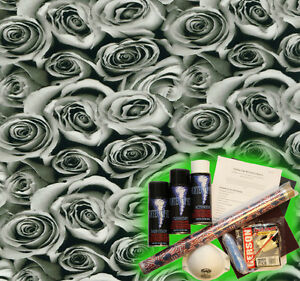 Hydrographics Dip Kit Activator Water Transfer Film Hydro Bed of Roses A64