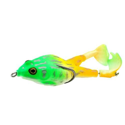 Double Propellers Frog Bait Silicone Fishing Lures Top Water Fishing Bait