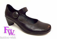 CAMPER Size 40 Black Leather Mary Jane Heels Pumps Shoes 9