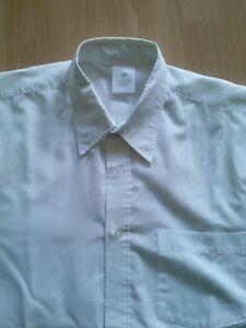 *camisa Chico Blanca Talla M Lisa Con Bolsillo Service Durable