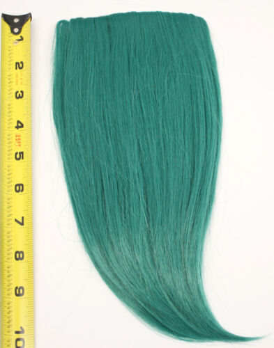 10/'/' Long Clip on Bangs Viridian Green Blue Cosplay Wig Hair Extension NEW