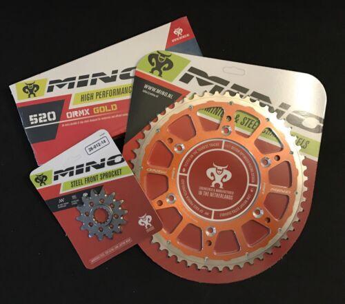 Kettenkit Mino Fusion X Ring Orange für KTM 13 zu 50  NEU