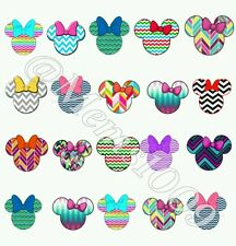 Minnie Mouse Chevron Nail Art (water decals) Disney Nail decals.