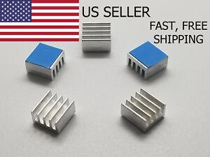 5PCS-8-8x8-8x5mm-Adhesive-Aluminum-Heatsink-LED-Memory-Raspberry-Pi-IC-US-Seller