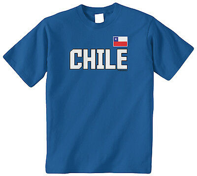 Threadrock Kids Chile National Team Toddler T-shirt Chilean Flag Pride Soccer