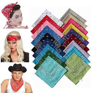 1 X Bandana Tuch Versch Farben 100 Baumwolle Kopftuch Halstuch