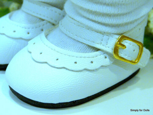 """WHITE Leather-Look Mary Jane DOLL SHOES fits 18/"""" AMERICAN GIRL Doll Clothes"""