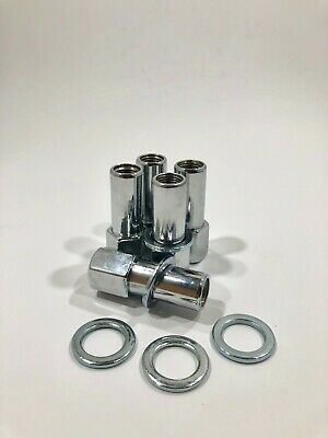 5 Chrome Lug Nuts 7//16 Closed SST Mag Nut 1.38 Shank Cragar Chevy FREE SHIPPING!