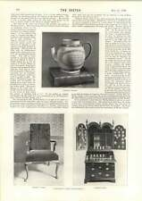 1898 Wesley's Statue Teapot Chair And Desk