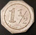 1   1/2 Pesos MEXICO TOKEN / FICHA L. R. Brewer GUATIMOC.