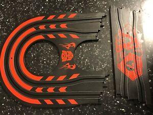 Courbe/boucle & Chicane Track Pièces Longueur Hornby Micro Scalextric Transformers-afficher Le Titre D'origine
