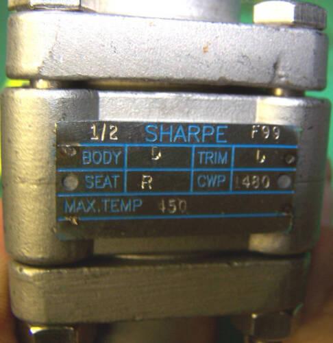 "NEW 1//2/"" BALL VALVE SHARPE 1//2/"" WELD-END STAINLESS STEEL BALL VALVE F99 A890"