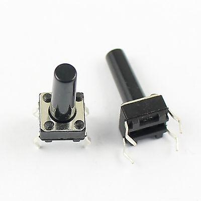100pcs Momentary Tact Tactile Push Button Switch 4 Pin DIP Through Hole 6x6x11mm