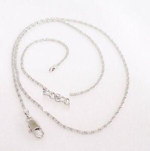Unisex Small Thin Chain White Gold Plated Men Women Classic Necklace 45cm Uk Ebay
