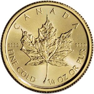 Canada-Gold-Maple-Leaf-1-4-oz-10-BU-9999-Fine-Random-Date