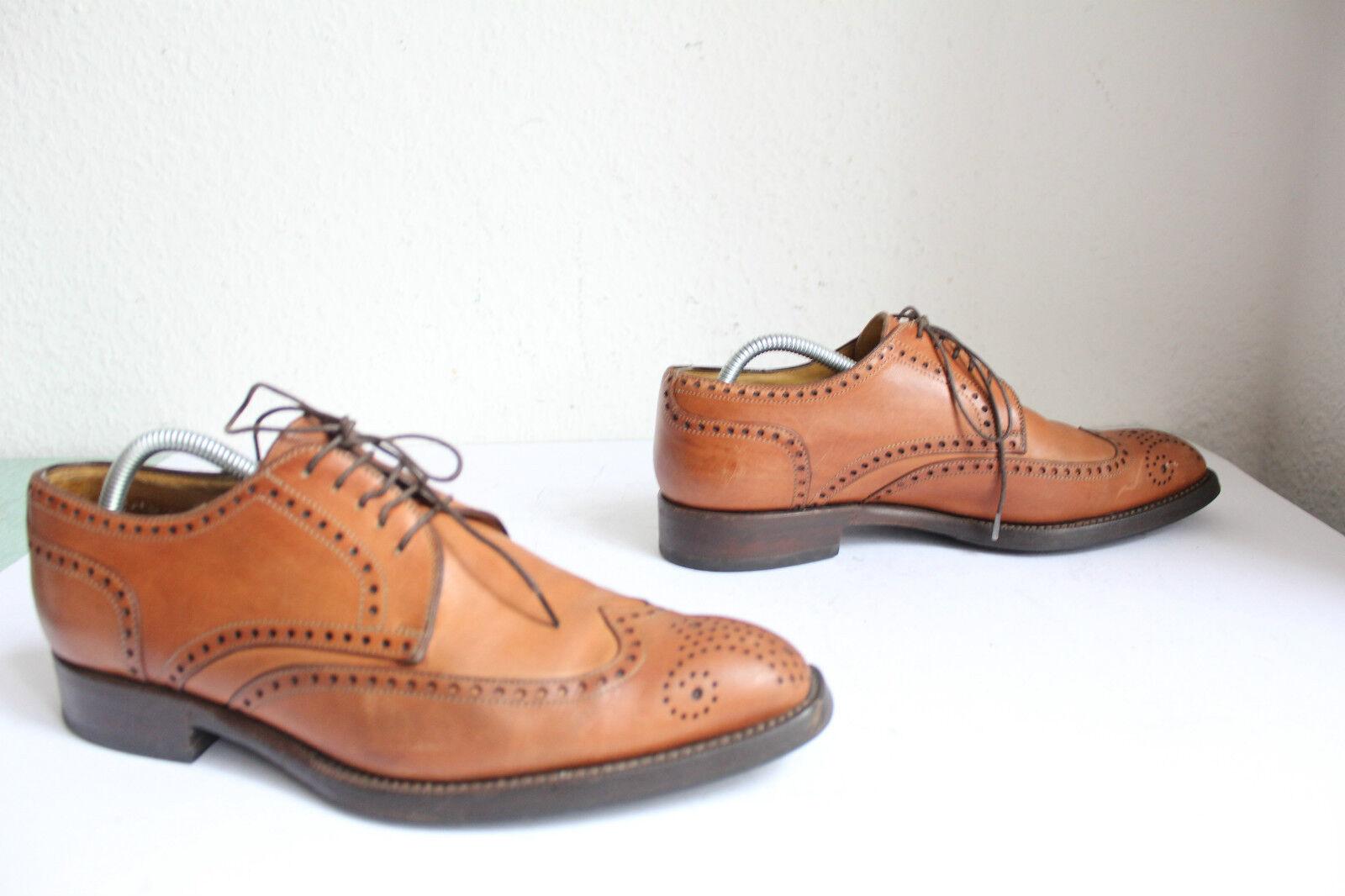 Lendway & schwarcz Handmade lujo brogue zapatos caballero plenamente cuero genuino marrón eu:41