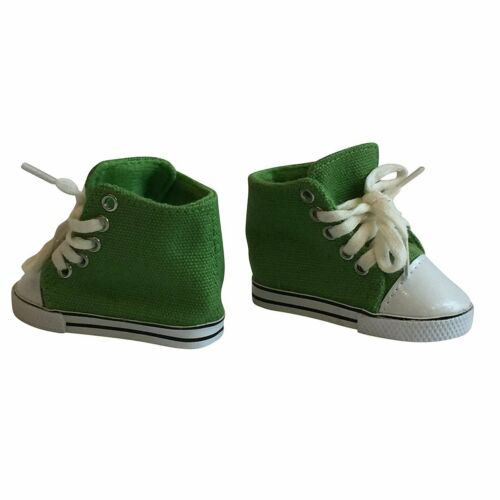 18 Inch Sneakers For Doll Fits all American Girl Doll Canvas Sneakers Green