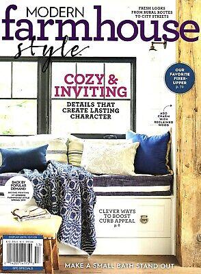 Modern Farmhouse Style Magazine Cozy Character Details Decor New Fall 2020 Ebay