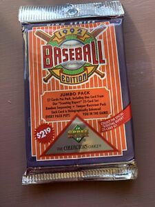 1992-Upper-Deck-Baseball-Jumbo-Pack-Sealed-Look-For-Collector-Holograms