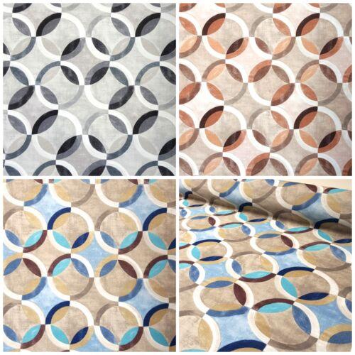 Stoff 100/% Baumwolle Panamabindung Deko Gardine Tischdecke Digitaldruck Kreise