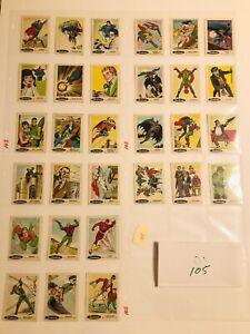 1978 DC Comics Sunbeam Bread Stickers COMPLETE SET of 30, Good Condition