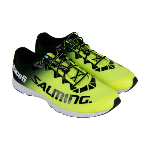 Salming Race 6 Mens Green Synthetic Athletic Lace Up Running Shoes