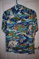 1940s-50s Hale Hawaii Vintage  Land of Aloha Rayon Hawaiian Shirt mint condition