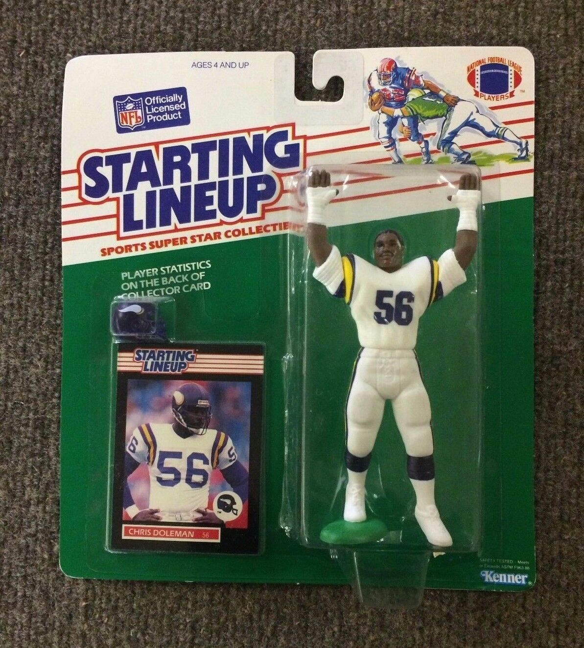 RARE 1989 Chris Doleman Minnesota Vikings Starting Lineup SLU Kenner