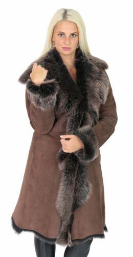 montone di Long scamosciata shearling Luxury Womens oro vera Toscana Coat Super pelle giacca di vPxtqx1Hw