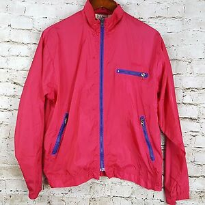 Made in the USA Authentic Vintage Men/'s L.L Bean Gray Red Geometric Patters Full Zip Up Fleece Sweater Size L