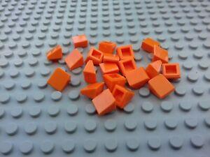 Cheese Wedge Lego 100 x Trans Orange 1x1 Slope 54200