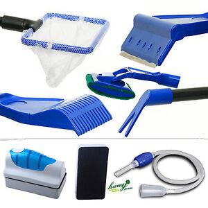 Aquarium-Cleaning-Tool-Kit-Fish-Tank-Algae-Vacuum-Gravel-Cleaner-Magnetic-Brush