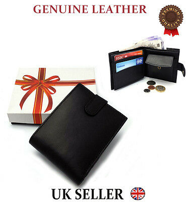 MENS REAL LEATHER LUXURY QUALITY WALLET PURSE CREDIT CARD HOLDER SECRET SANTA