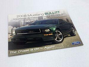 2008 Ford Mustang Bullitt Information Sheet Brochure