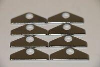 Chrome 1 1/2 Valve Cover Spreader Bars Mini Tabs Hold Downs Sb Chevy Sbc 350