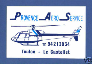 French-Provence-Aero-Service-Helikopter-Label-Sticke