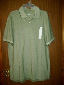 NEW-MEN-039-S-GOODFELLOW-SHORT-SLEEVE-LORING-POLO-SHIRT-SZ-LT-SAGE-GREEN