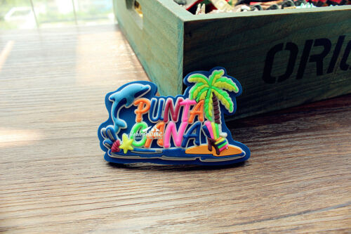 Punta Cana Dominican Republic Tourism Travel Souvenir 3D Rubber Fridge Magnet
