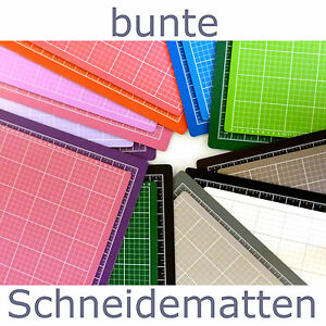 schneidematte bunt 45 cm x 30 cm schneideunterlage patchworkmatte din a3 ebay. Black Bedroom Furniture Sets. Home Design Ideas